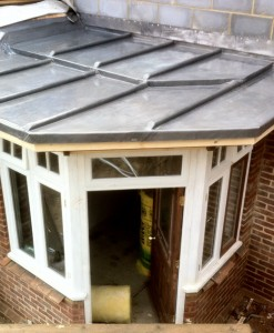 lead porch, RT Alkin, Tenterden, lead roofing