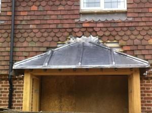 Lead Canopy Sevenoaks, roofing Sevenoaks, RT Alkin Roofing,