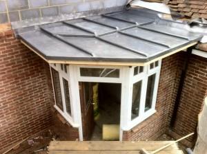 lead porch, RT Alkin, Tenterden, lead roofing